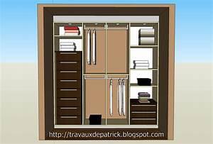 Faire Un Placard Sur Mesure : dressing dans une chambre ~ Premium-room.com Idées de Décoration