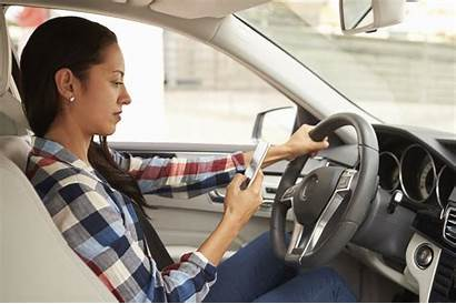 Driving Distracted Texting Drivers While Allstate Woman