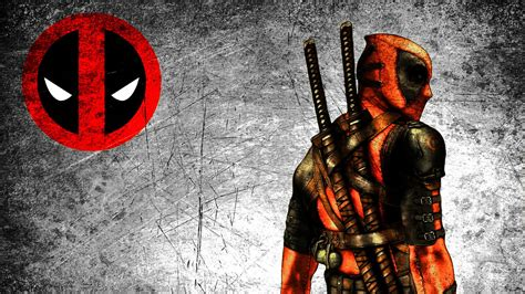 cool deadpool wallpaper  logo  high resolution