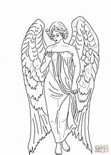 Angel Coloring Guardian Pages Printable Angels Child Drawing Supercoloring Children Chibi Books Print Adult Supernatural Jesus Church Catholic Bible Raphael sketch template