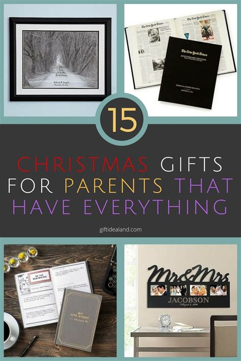 15 good christmas gift ideas for parents who have everything