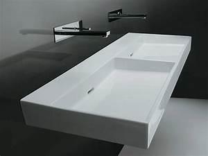 Petit Meuble Lavabo : agr able petit meuble rangement pour wc 7 lavabo double rectangulaire suspendu urban 120 ~ Teatrodelosmanantiales.com Idées de Décoration