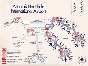 Late 70 U0026 39 S Or Early 80 U0026 39 S Map Of Atl Airport  Amazing How It