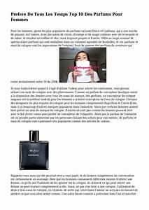 Meilleur Parfum Femme De Tous Les Temps : prefere de tous les temps top 10 des parfums pour femmes ~ Farleysfitness.com Idées de Décoration