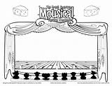 Coloring Stage Theatre Drama Sketch Drawing Curtains Template Curtain Sketches Sketchite Dancer Printablecolouringpages Larger Credit Class sketch template