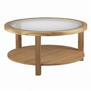 Table Verre Ronde : table basse verre et bois design table basse table pliante et table de cuisine ~ Teatrodelosmanantiales.com Idées de Décoration