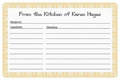 recipe card templates psd ai vector eps publisher