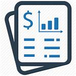 Financial Icon Budget Report Statement Finance Icons