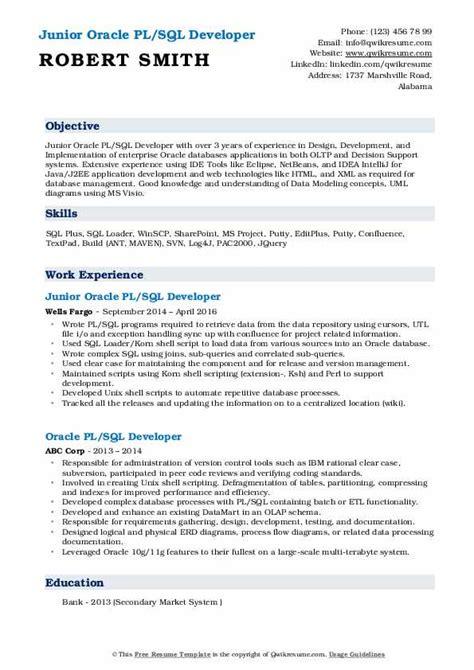 Resume Sles Pdf by Junior Sql Developer Responsibilities The Best Developer
