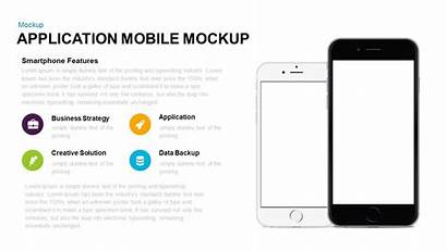 Powerpoint Mobile Template Application Mockup Keynote Templates