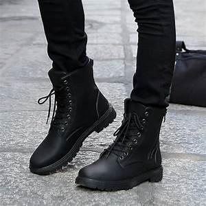 Externally hard but internally soft menu2019s military boots - AcetShirt