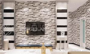 Chinese Style Dining Room 3d Wallpaper Stone Brick Design ...