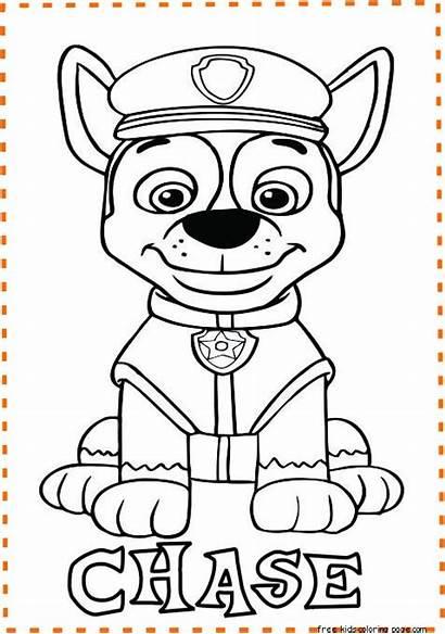 Paw Patrol Chase Coloring Printable Freekidscoloringpage Halloween