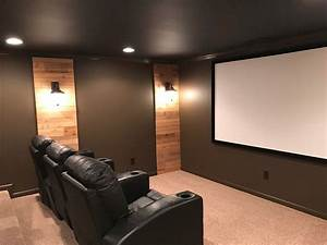 Theater room sconces with wood home theatre home theater for Home theater furniture atlanta