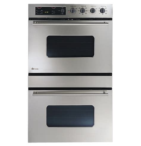 ge monogram  european design stainless steel double convection wall oven zetsbss ge