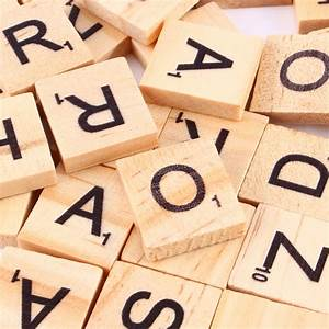 hot sale 100pcs wooden alphabet scrabble tiles black With wooden letters and numbers for sale
