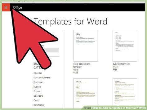 how to add a template to word 4 easy ways to add templates in microsoft word wikihow