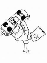 Bart Coloring Simpson Skateboard Skateboarding Simpsons Skate Colorare Sheet Ausmalbilder Disegni Malvorlagen Gratis Cool Coloriage Teschio Disegno Colorir Desenhos Dos sketch template