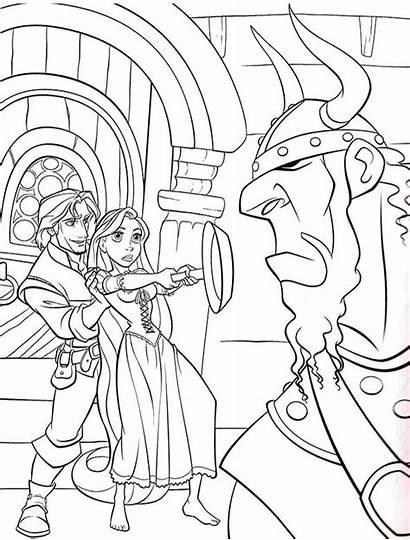 Rapunzel Coloring Tangled Raiponce Disney Princess Flynn