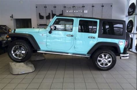 jeep blue and black tiffany blue jeep wrangler jk tiffany blue cars jeeps