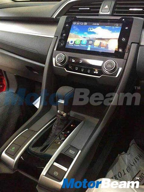 honda civic 2017 interior honda civic 2017 spotted at tapukara plant in rajasthan