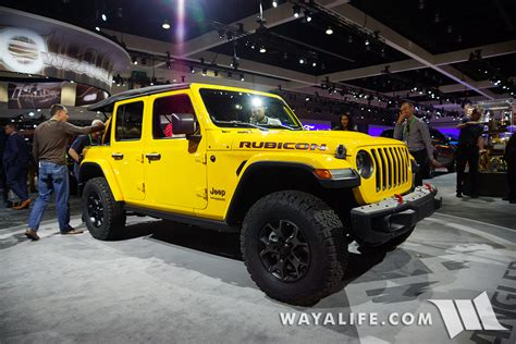 2019 Jeep Wrangler La Auto Show by 2017 La Auto Show Yellow Jeep Jl Wrangler Rubicon Unlimited