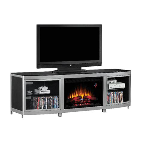 black electric fireplace tv stand object moved