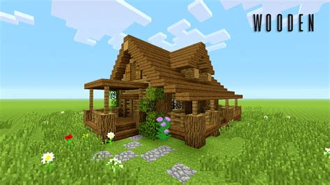 minecraft how to build wooden house rustic - Wooden House In Minecraft