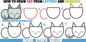 how to draw a cat step by step how to draw a cat completely from letters