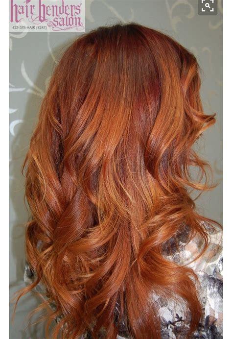 ruivo cobre mechas ombreleve beleza   hair