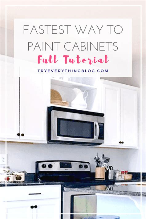 easy way to paint kitchen cabinets the fastest way to paint kitchen cabinets with the best 9641