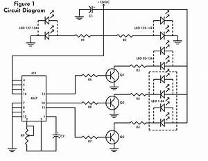 Led flashing heart circuit schematic for Led flashing heart