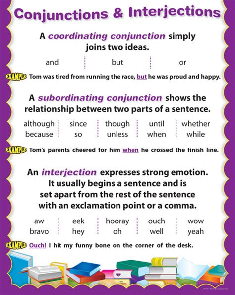 28 worksheets on conjunctions and interjections
