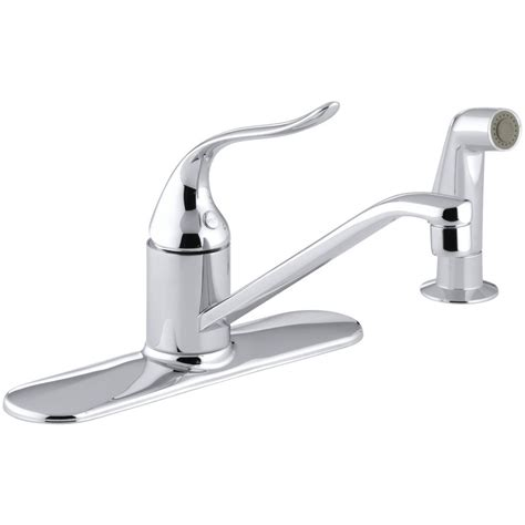Faucet Sprayer by Kohler Coralais Single Handle Standard Kitchen Faucet With