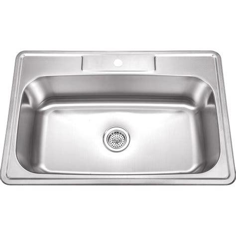 best stainless steel sinks 33 inch stainless steel top mount drop in single bowl