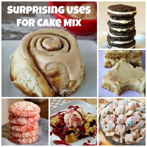 surprising recipes  cake mix  cobbler