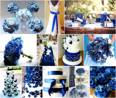 royal blue  silver wedding decorations  images