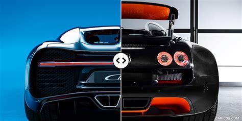 Developed and created by bugatti enthusiast romano artioli, the eb110 was in a league of its own: Bugatti Chiron vs. Veyron GS Vitesse: Rear - Comparison #4