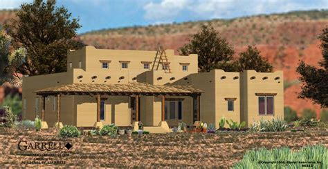 southwest house garrell associates inc santa fe house plan 06312