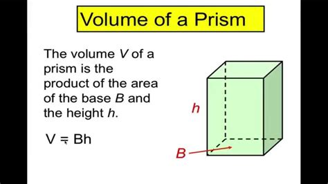 Volume Of Prisms And Cylinders Youtube