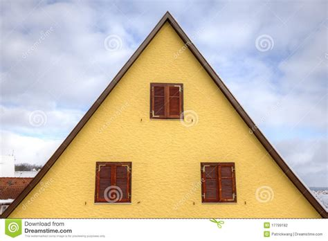House Roof In Triangle Shape Stock Photo