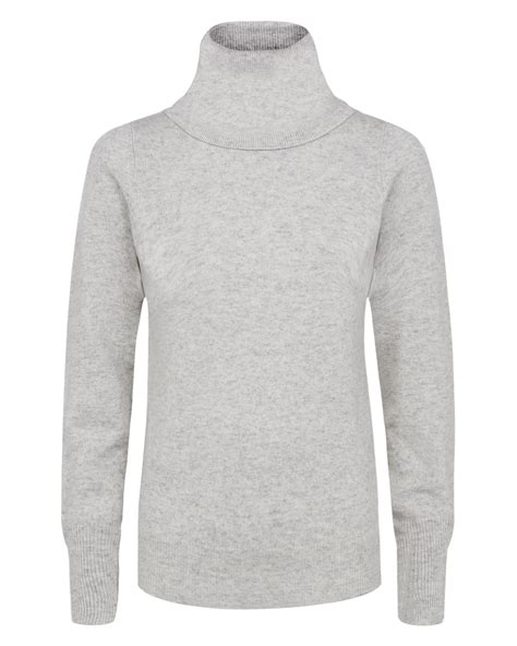white cowl neck sweater jaeger cowl neck sweater in white lyst