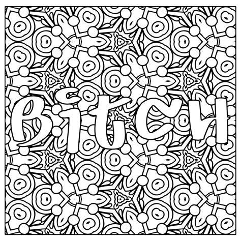 btch swear word coloring page jpg instant  thinkprintableart swear word coloring words