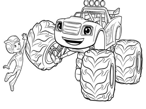 Blaze Monster Truck Coloring Sheet Pages And The Machine