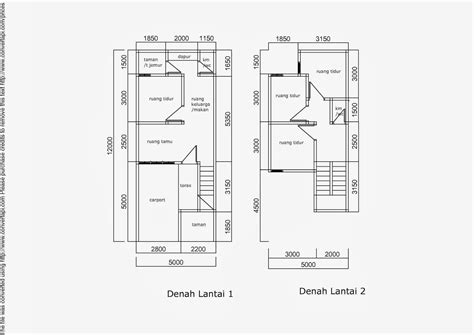 gambar desain rumah minimalis  lantai ukuran  terbaru