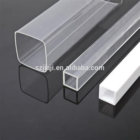 plastic tubing pmma rohr transparent kunststoff vierkantrohr