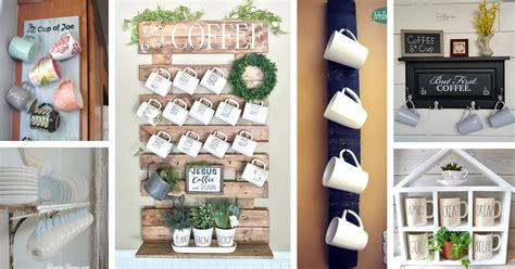 Today we're making this dollar tree diy coffee mug holder. 26 Best DIY Coffee Mug Holder Ideas and Projects for 2020