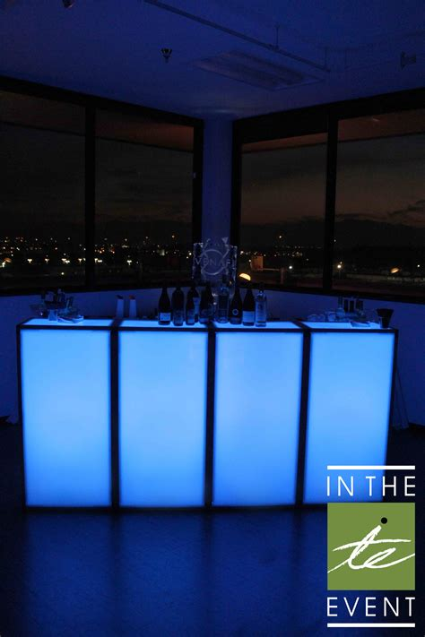 led deluxe bar event rental