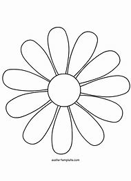 Daisy Flower Petal Templates Printable