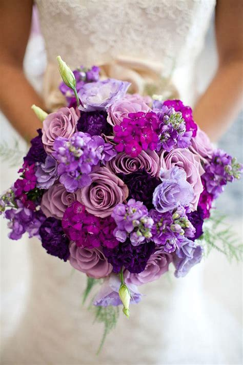 Too Pretty To Miss Purple Wedding Bouquets Mon Cheri Bridals
